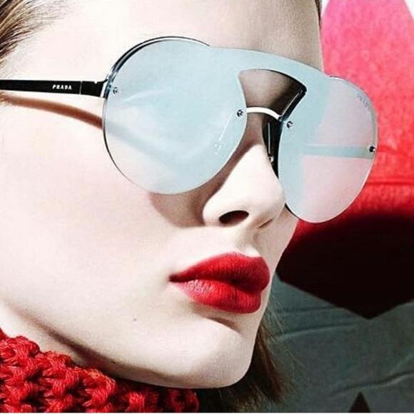 87ca26e8dd7a6 Authentic Prada PR 65TS Mirror Silver Sunglasses. Listing Price   225.00